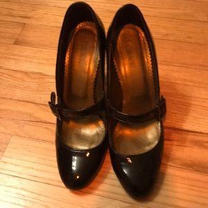 JCrew Black Patent Leather Mary Janes